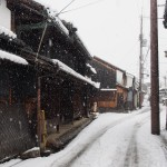 芝新屋町の雪景色