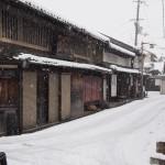 奈良町物語館付近の雪景色