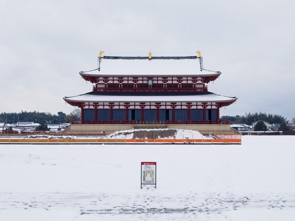雪景色の大極殿