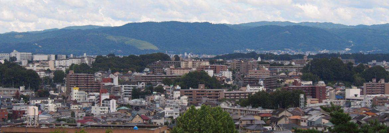 富雄団地からの眺望風景