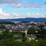 富雄団地から奈良市街地・若草山方面を望む風景