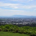若草山から奈良盆地・金剛山方面への眺望