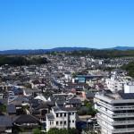 奈良県庁屋上から「きたまち」エリアを望む