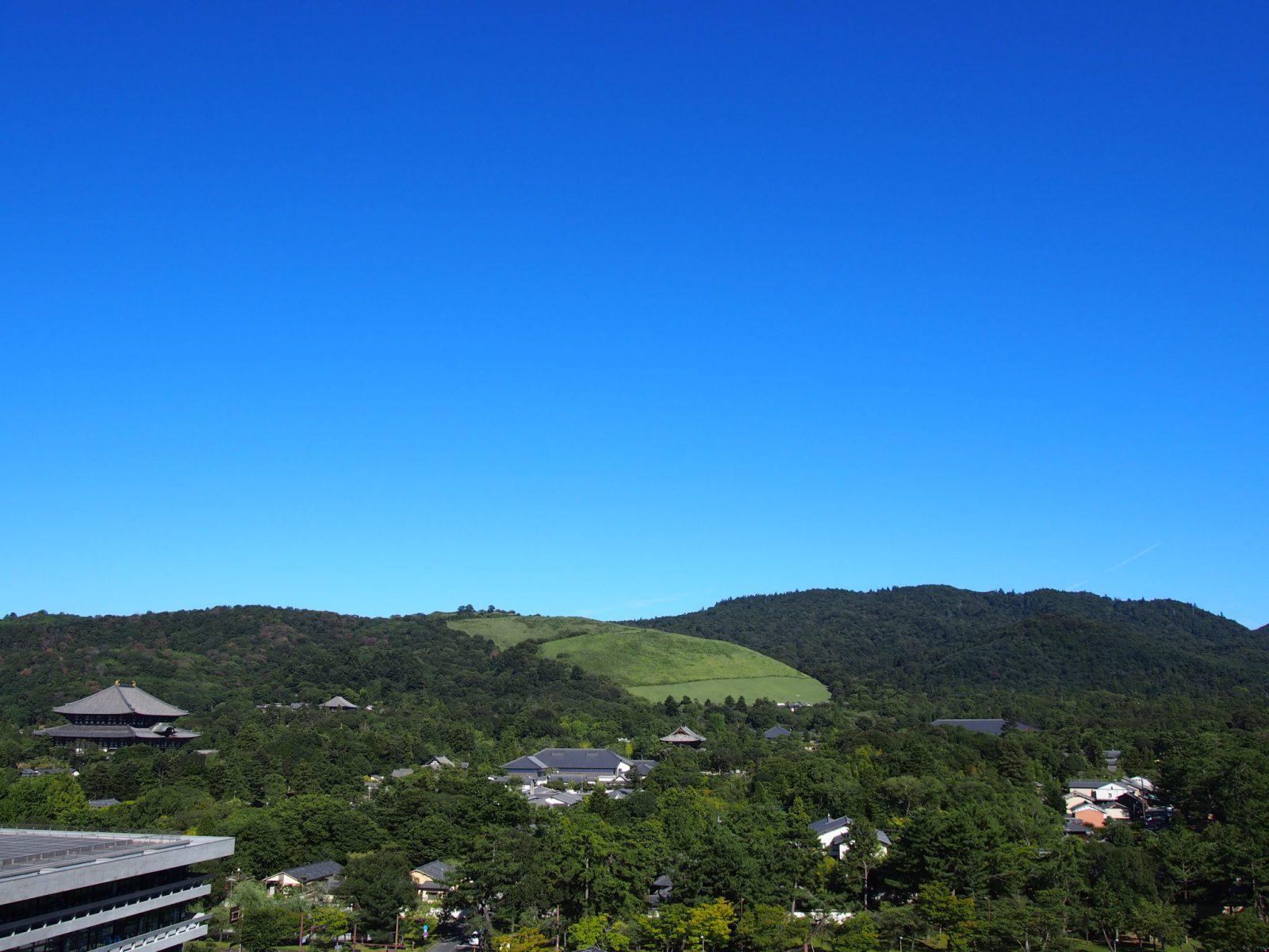 奈良県庁屋上広場・展望室からの眺め