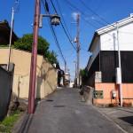 鎮宅霊符神社付近の坂道