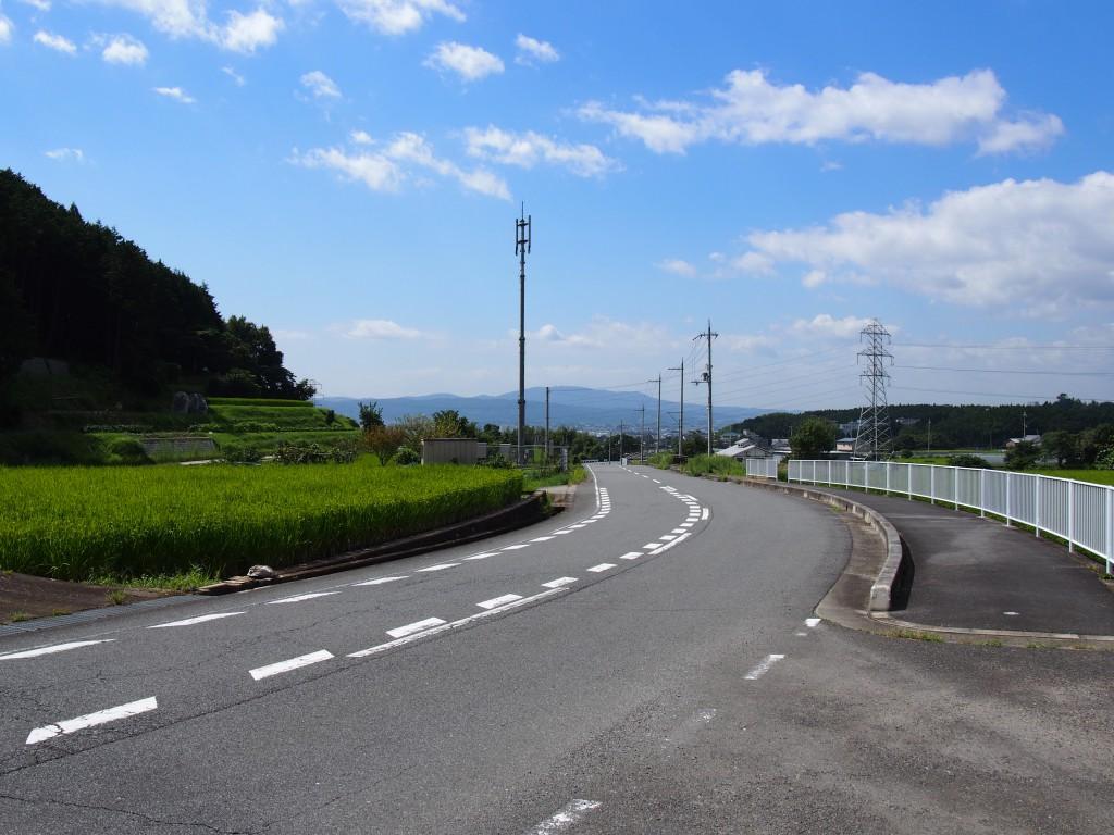 高樋エリアから生駒山方面を望む