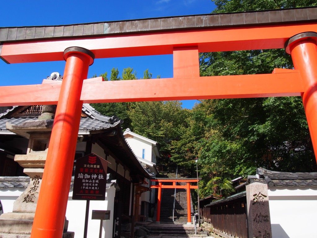 瑜伽神社の鳥居(奈良町)