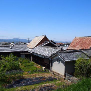 【鹿野園町の家並み・田園風景】山辺の道沿いに広がる静かな農村集落