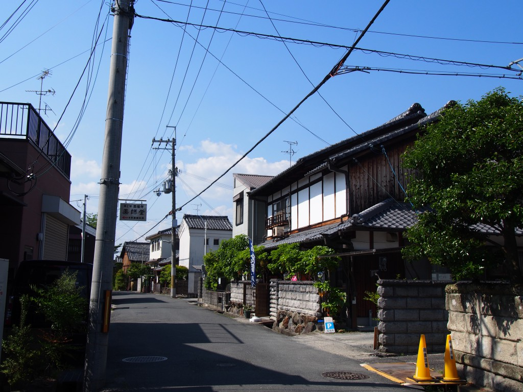 奈良阪町の風景