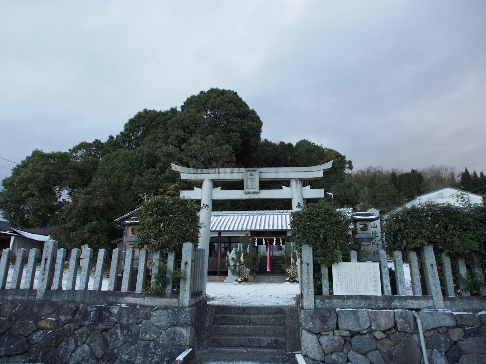 白山比咩神社の鳥居・境内地