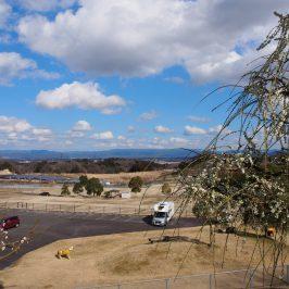 梅の郷月ヶ瀬温泉から伊賀盆地・鈴鹿山脈を望む風景