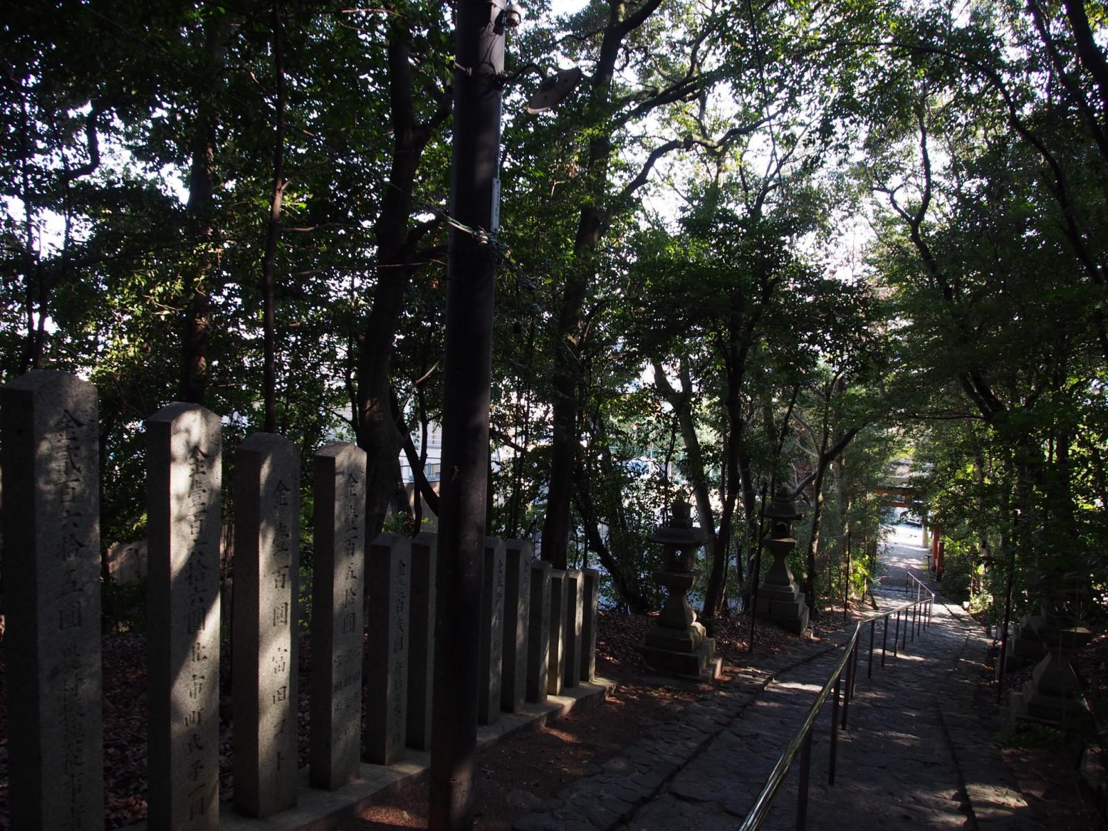 狭岡神社の石段