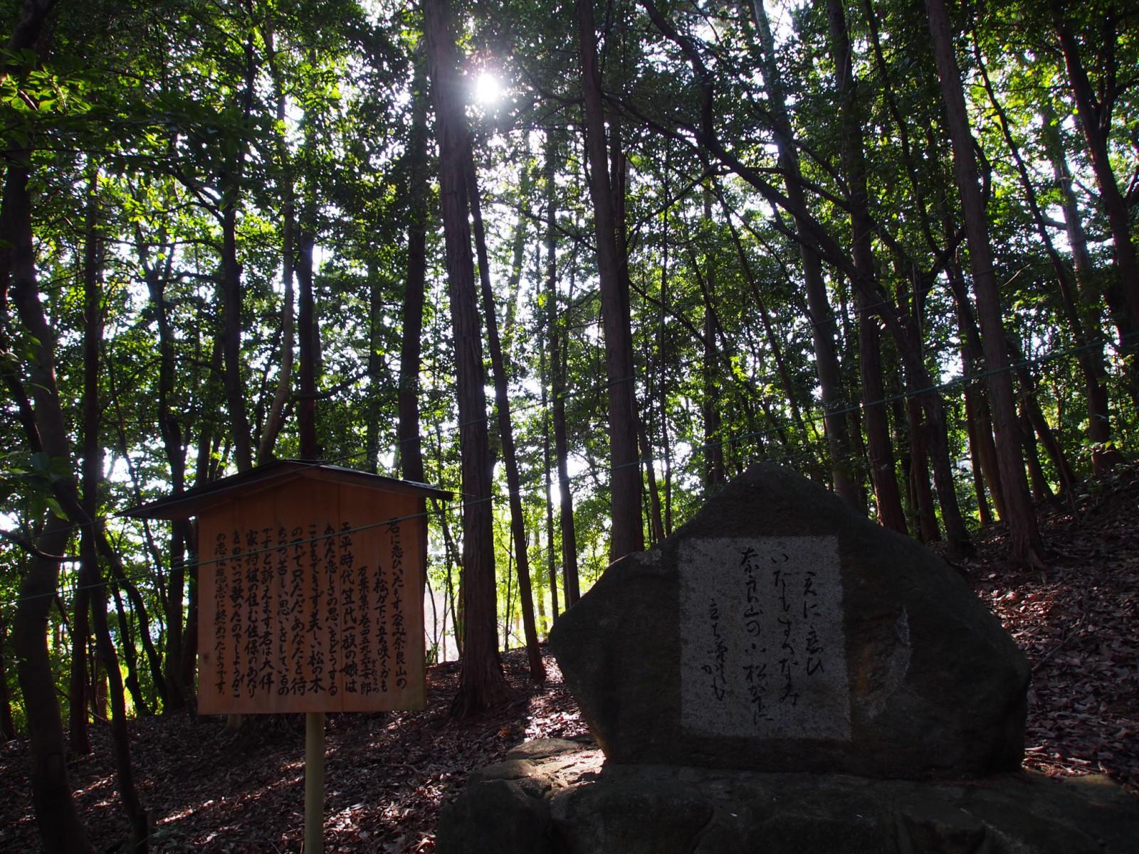 狭岡神社の歌碑(笠郎女)