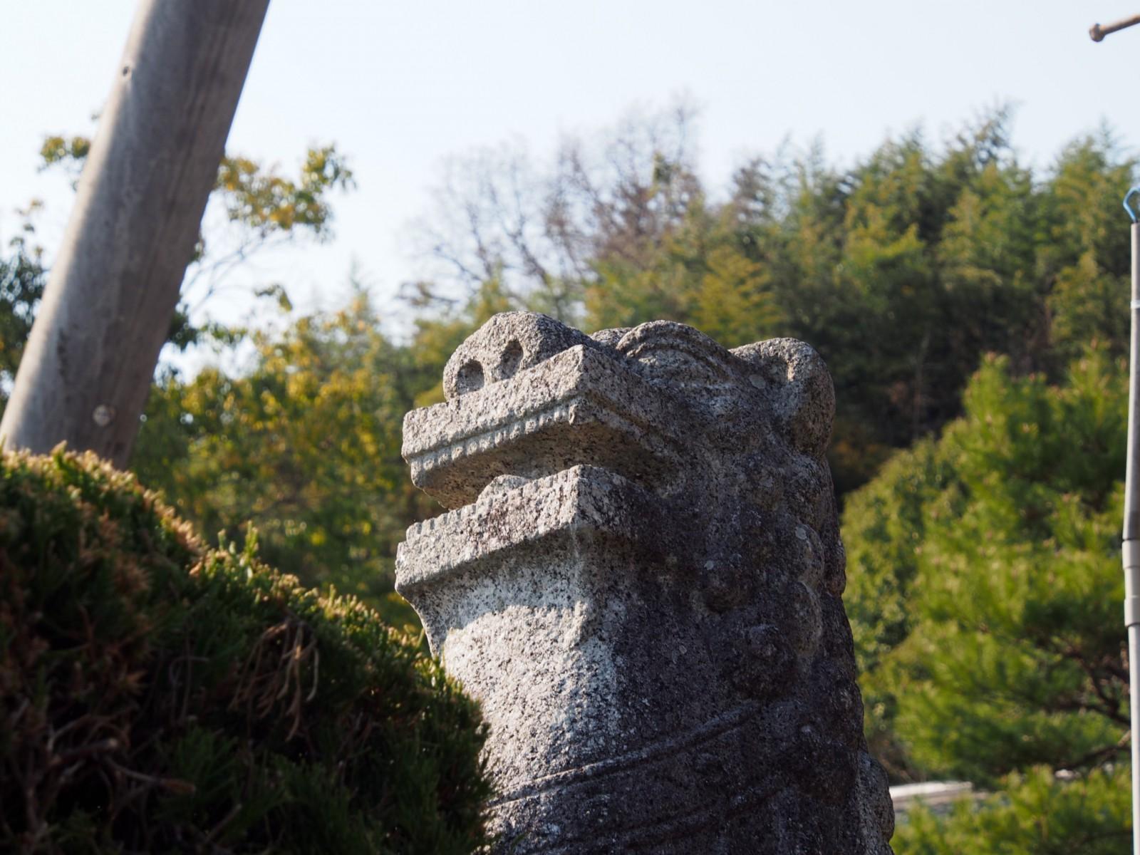 長慶寺の狛犬