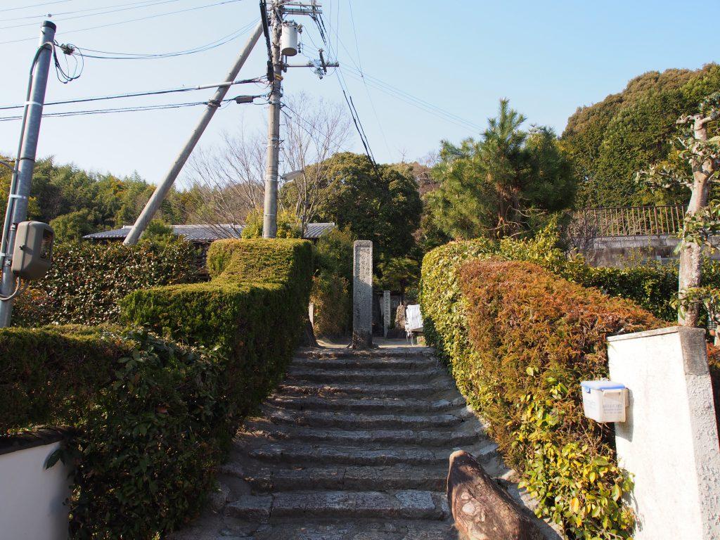 長慶寺への石段