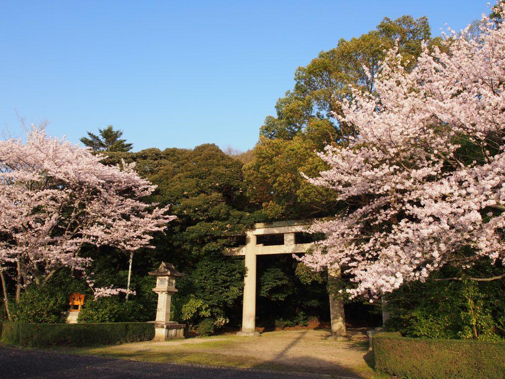 奈良護国神社の鳥居(バス停近く)