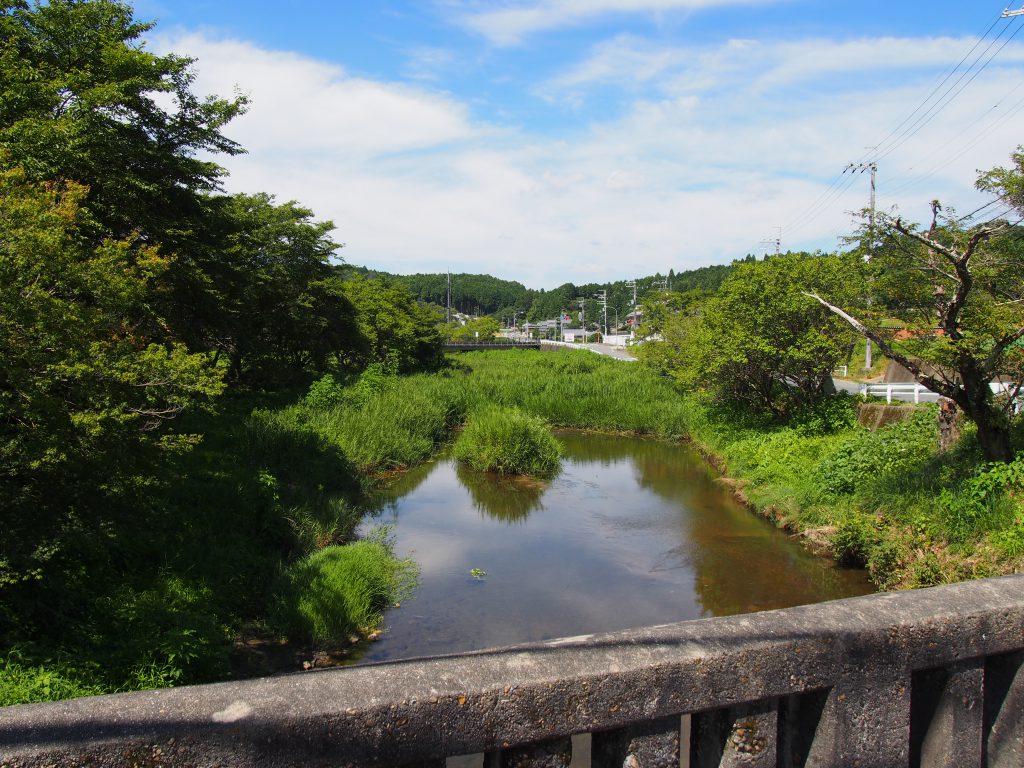 ホタルで有名な「白砂川」