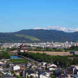 奈良ファミリー屋上から奈良市街地への眺望