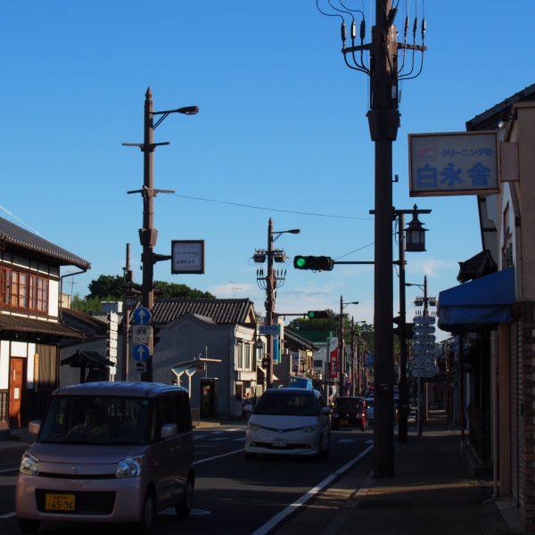 京街道・手貝町周辺の風景