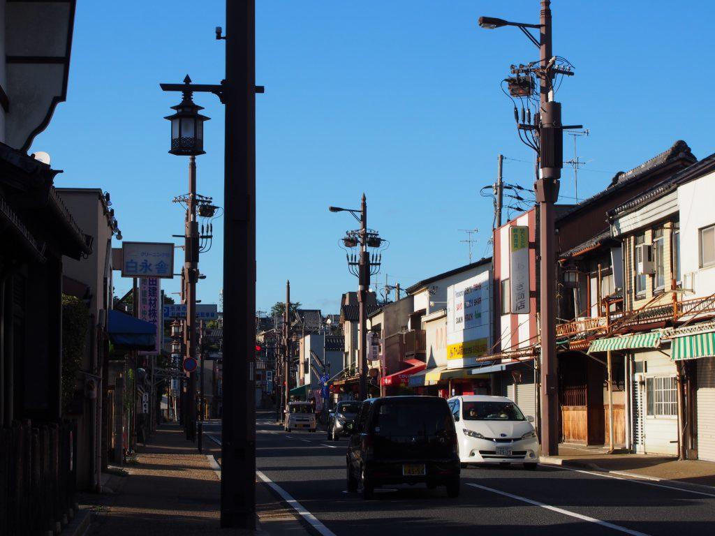 手貝町周辺の町並み(京街道)