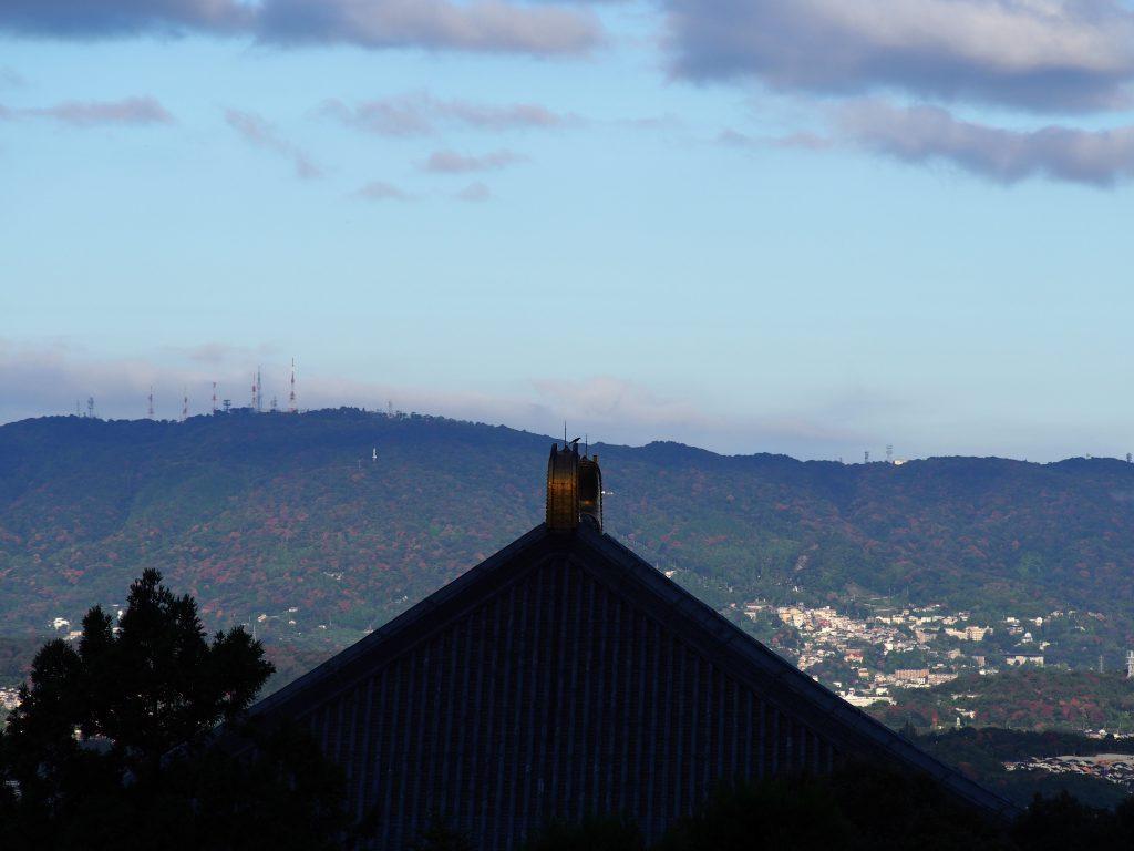 早朝の二月堂からの眺め