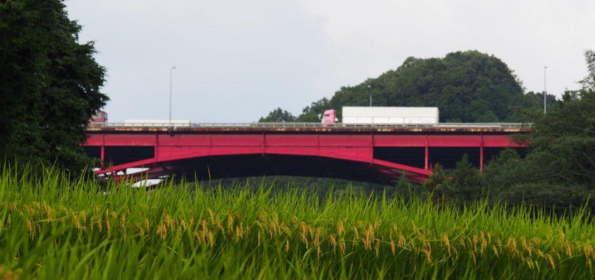 名阪国道沿い「米谷町」の農村風景