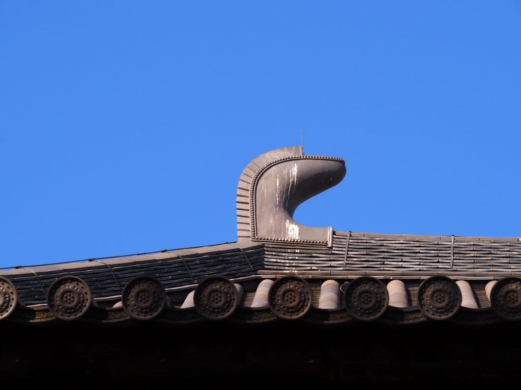 唐招提寺金堂の「鴟尾」