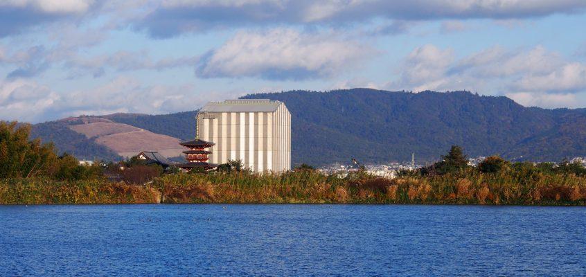 【西の京】薬師寺東塔・西塔を美しく眺める「大池」ってどんなところ?【撮影スポット】