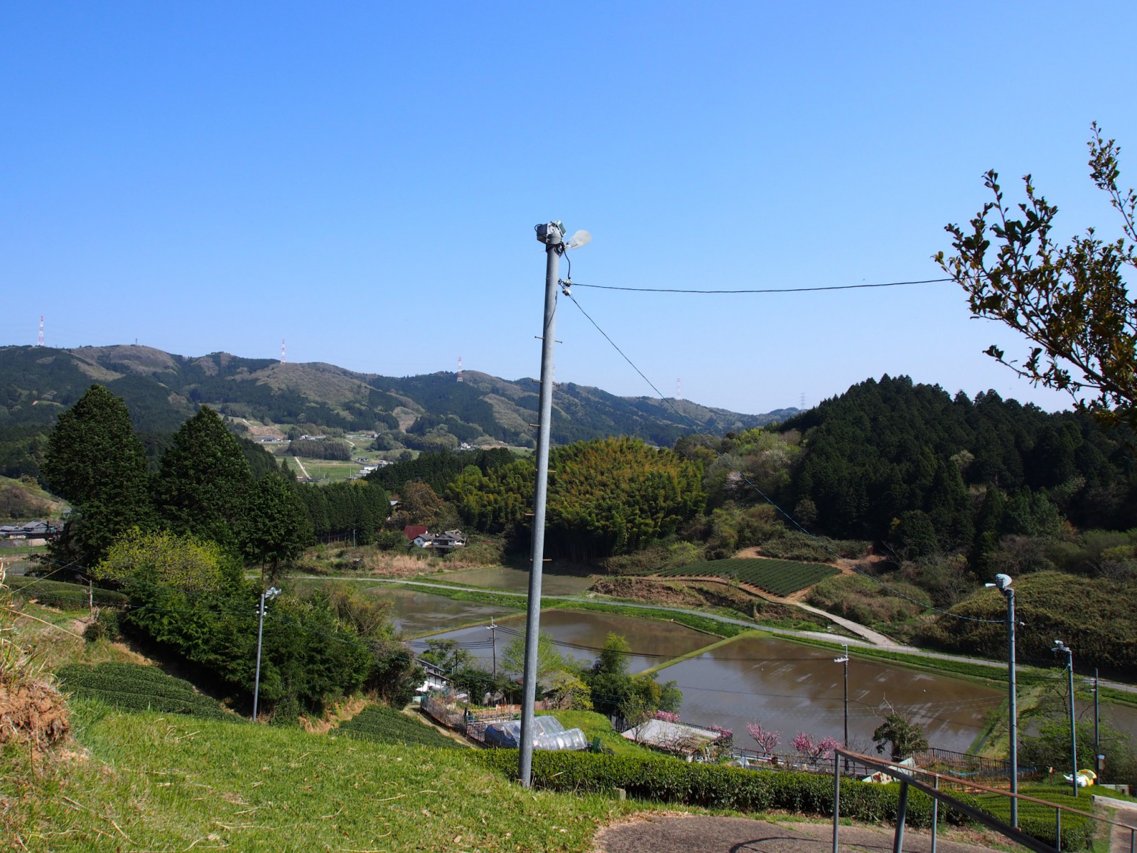 太安万侶墓から田原地区への眺望風景