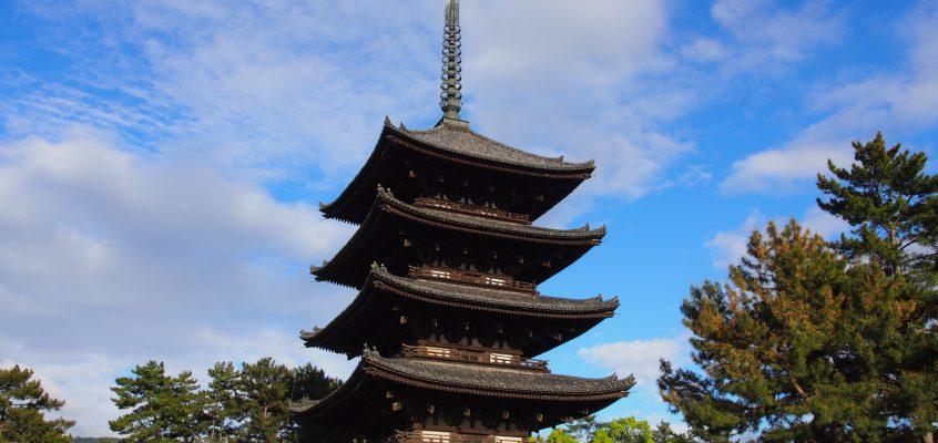 【興福寺五重塔】高さ50メートルに及ぶ奈良を象徴する仏塔は「東寺五重塔」にも匹敵する規模を持つ