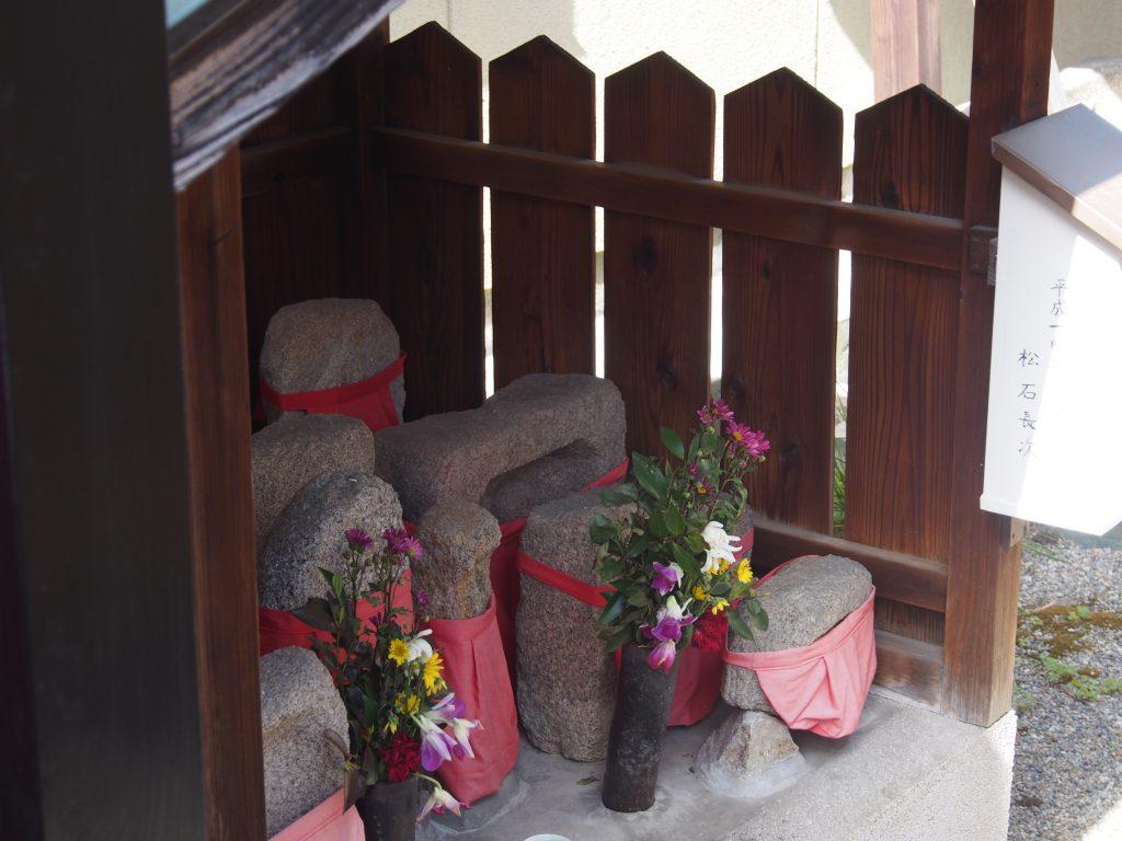 住吉神社の中にある石仏