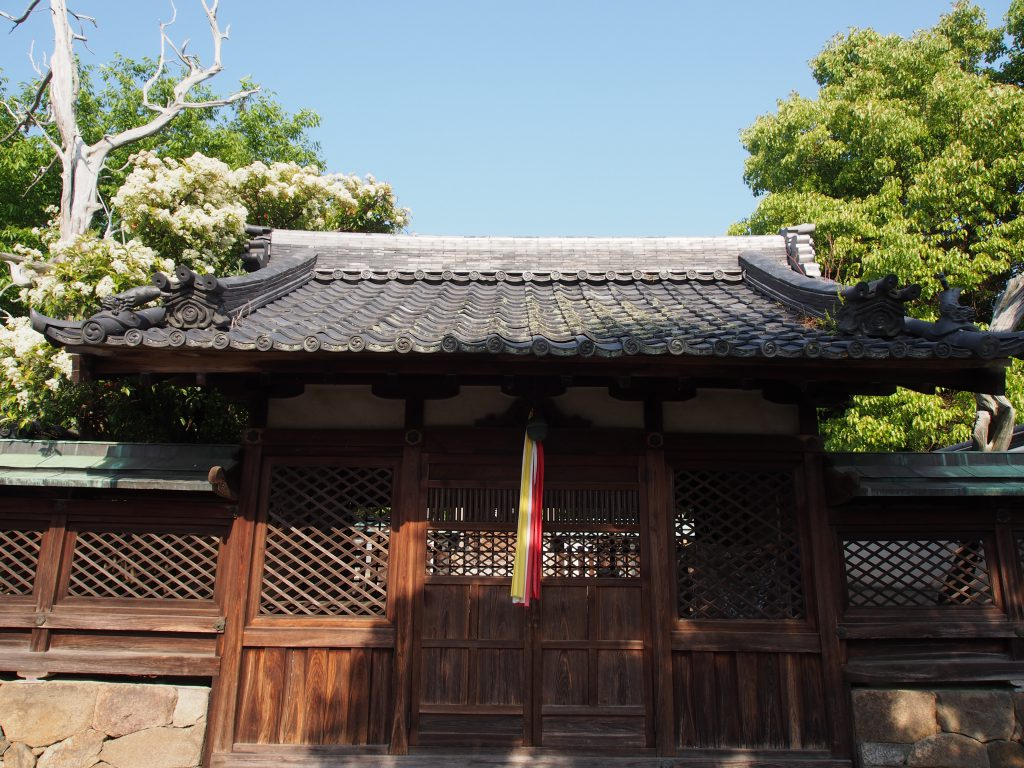 八坂神社社殿を正面から望む