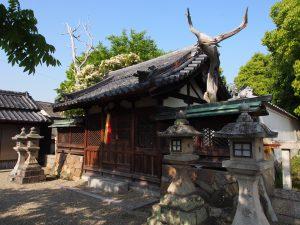 【帯解】枯死した木が独特の雰囲気を放つ「八坂神社(柴屋町)」ってどんなところ?境内を写真でご紹介!