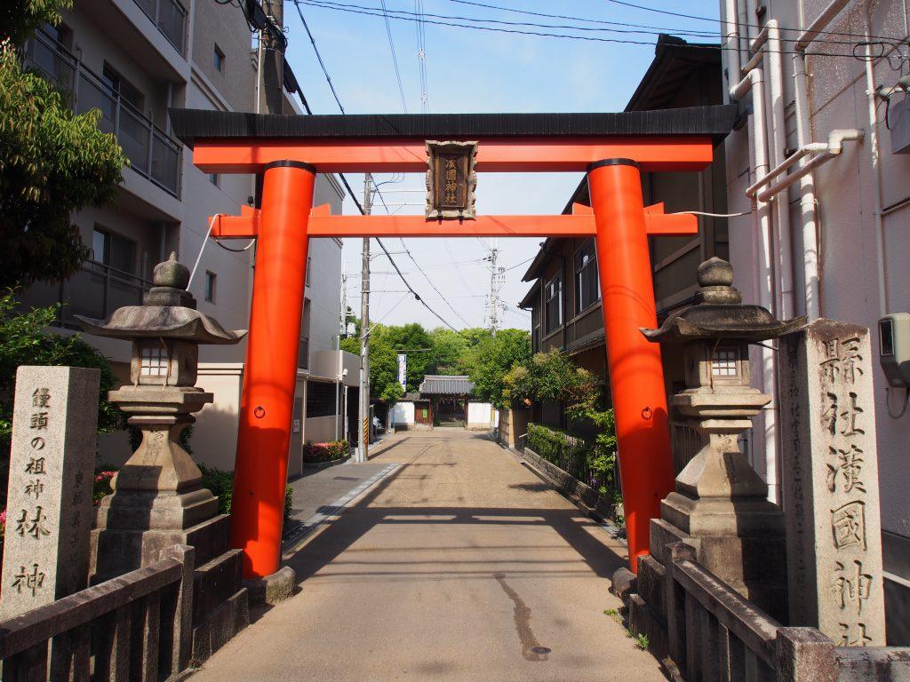 漢国神社の鳥居