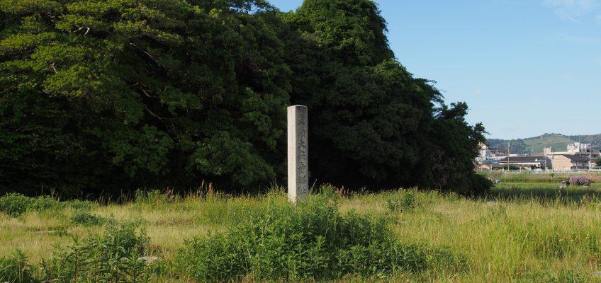 大安寺塔跡の基壇と石碑