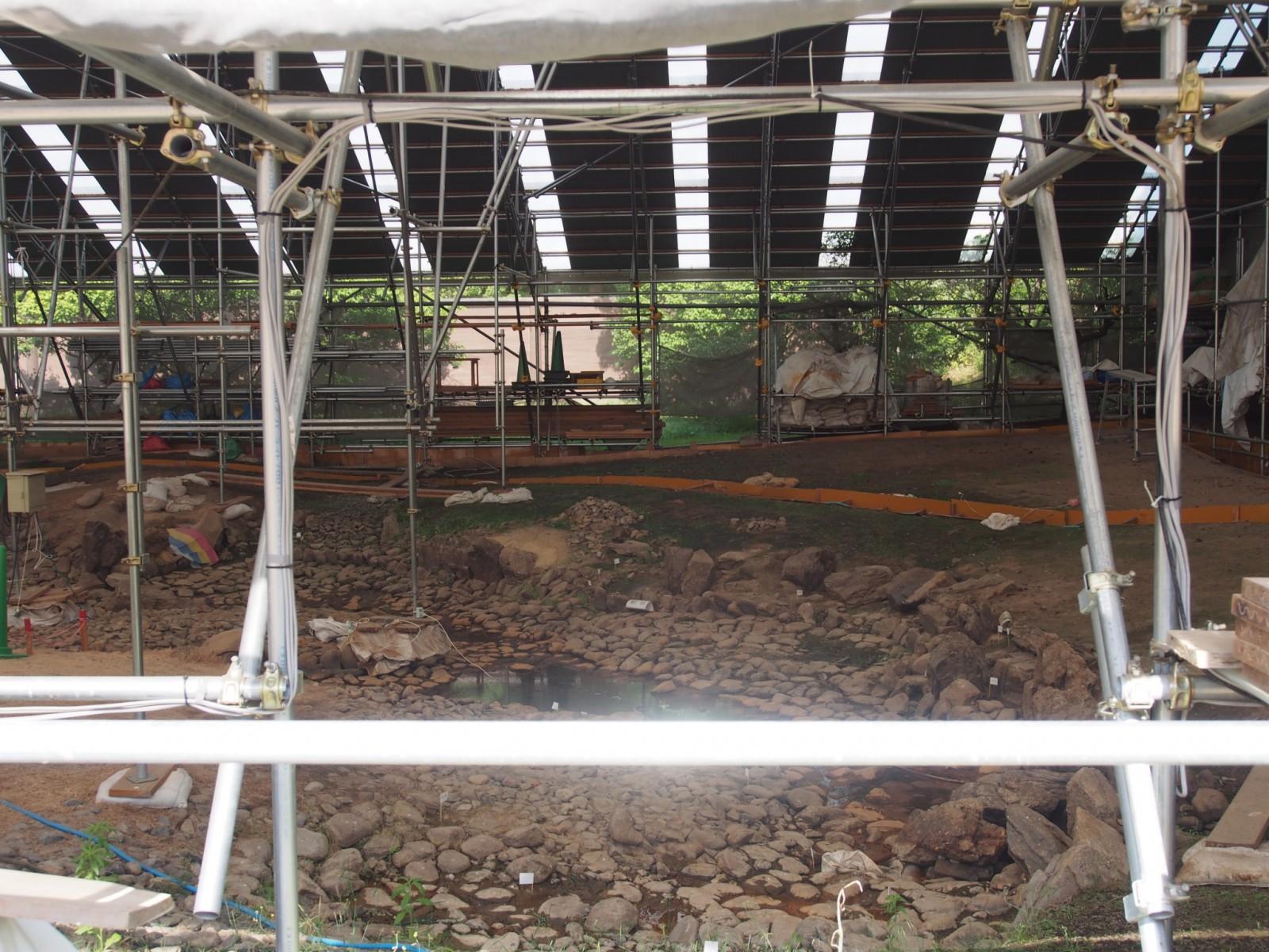 平城京宮跡庭園の園地(奈良時代の遺構)