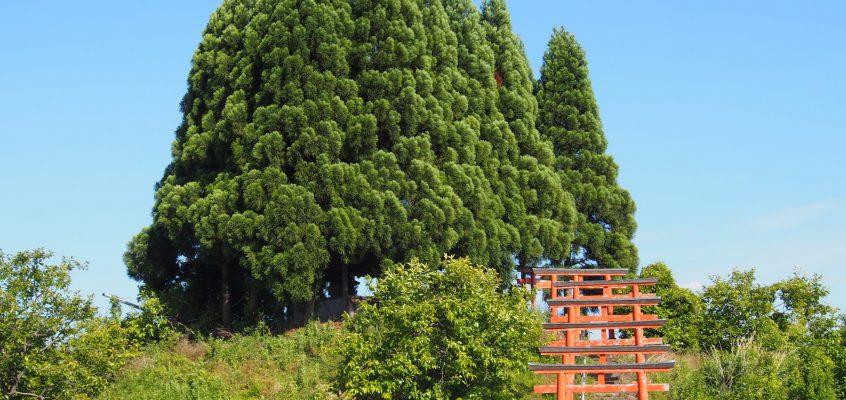 【ベンショ塚古墳・森常稲荷神社】古墳の上に神社がある少し珍しいスポット