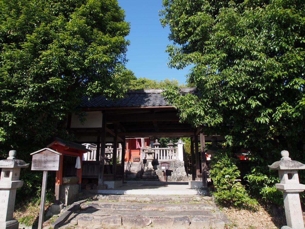 嶋田神社(奈良市)の入り口