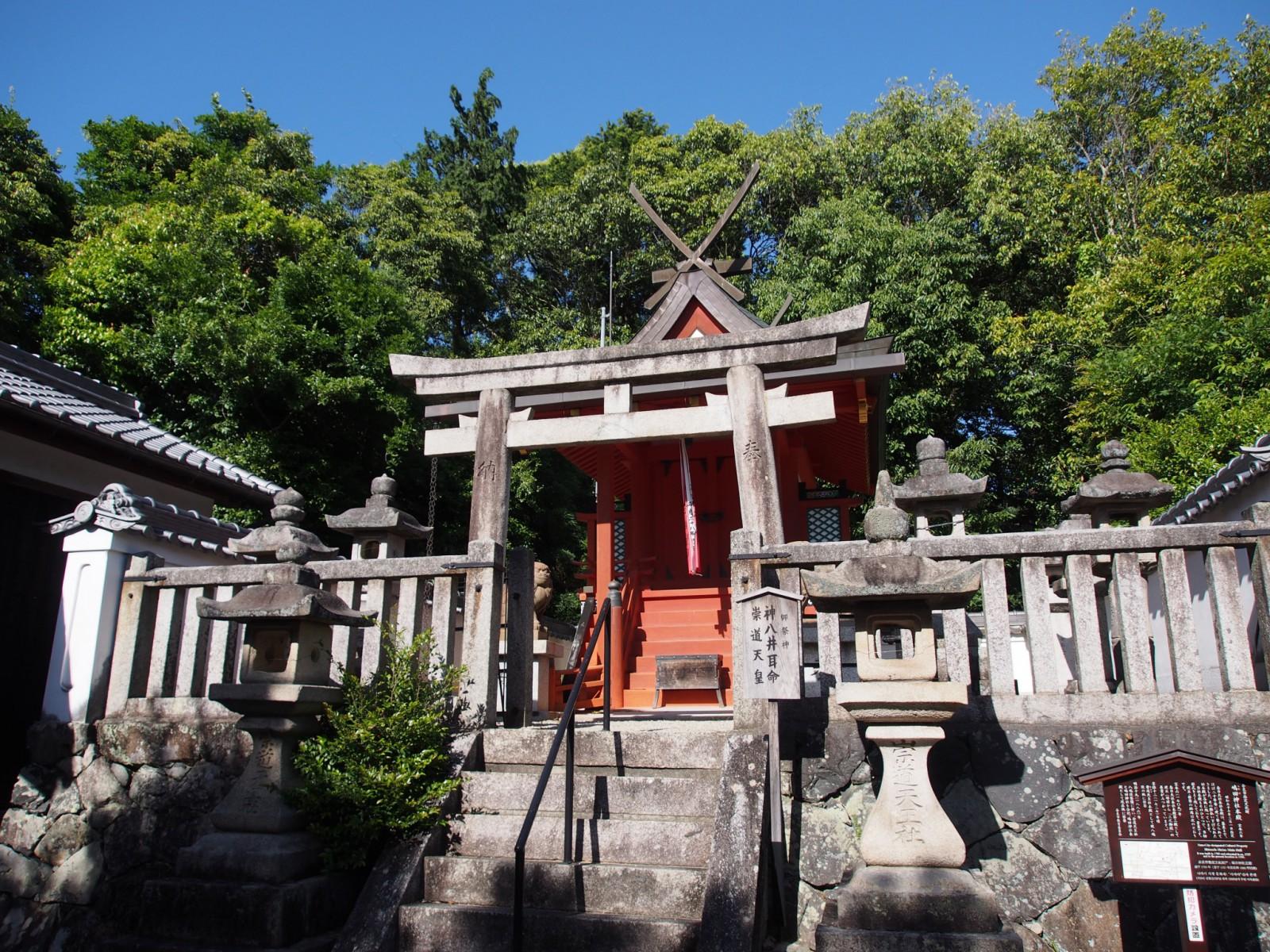 嶋田神社本殿周辺