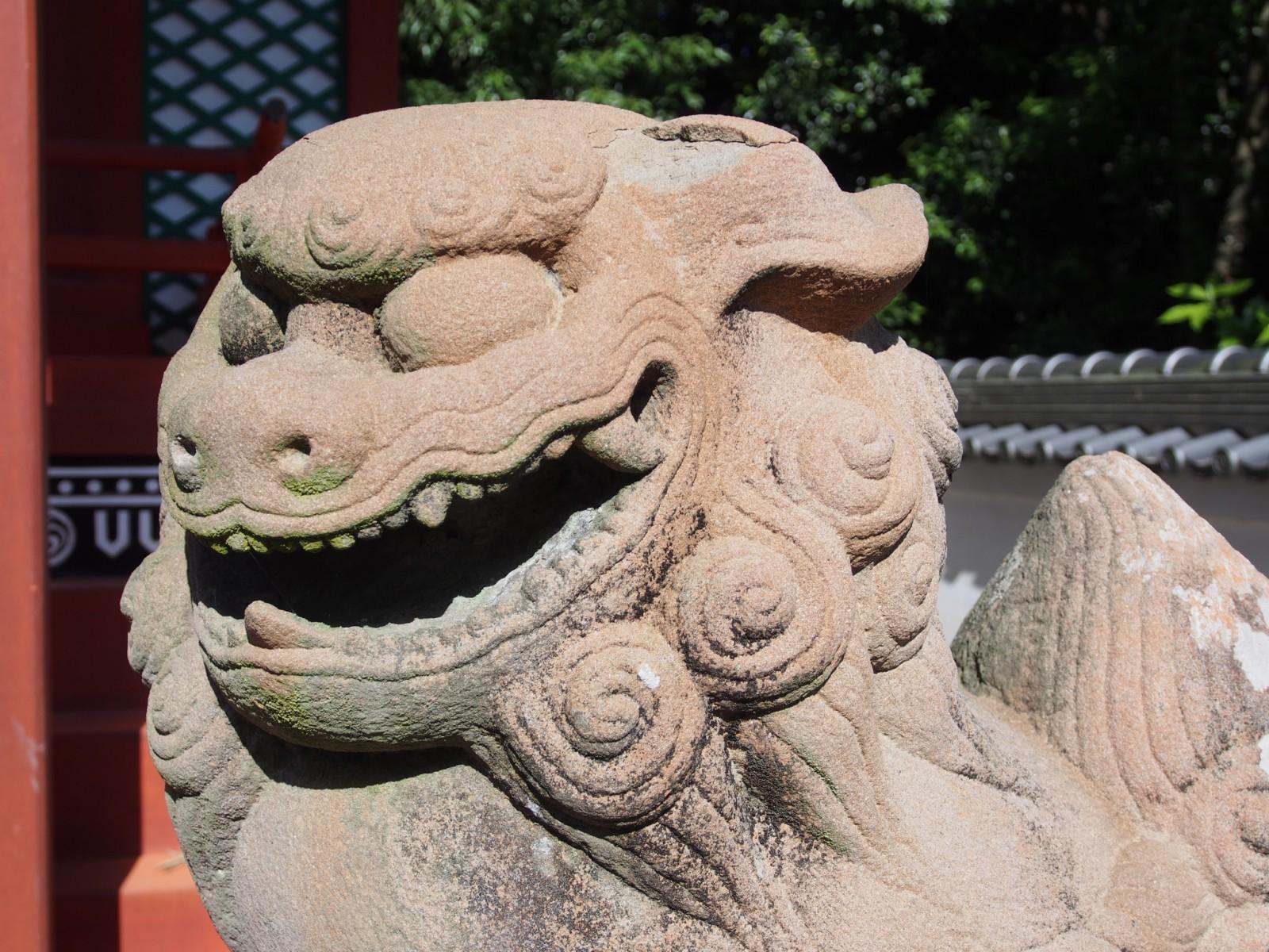 奈良・嶋田神社の狛犬
