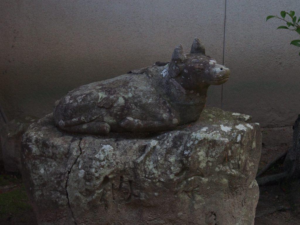 北野天満神社にいる「狛牛」