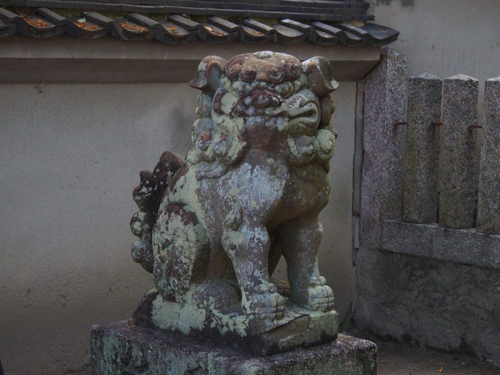 北野天満神社境内の狛犬
