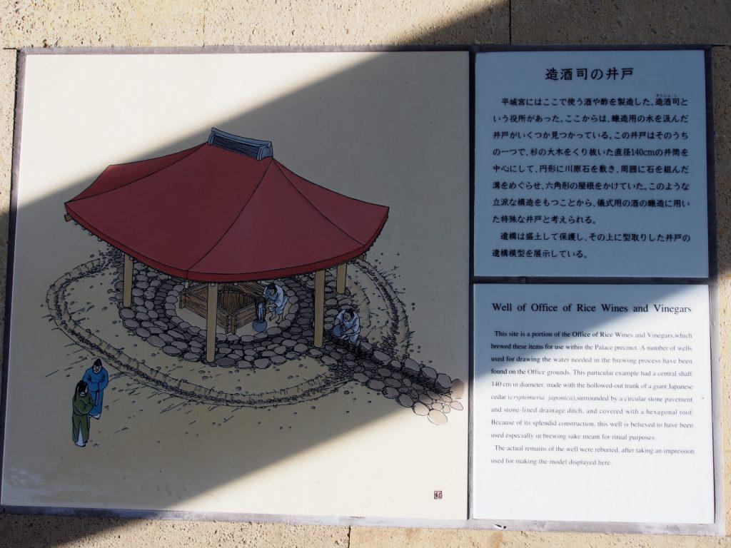 観光案内板(造酒司井戸)