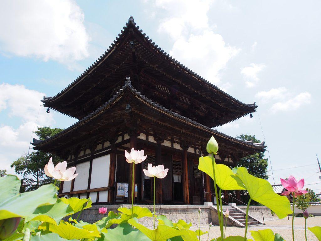 蓮の花が美しい「喜光寺」