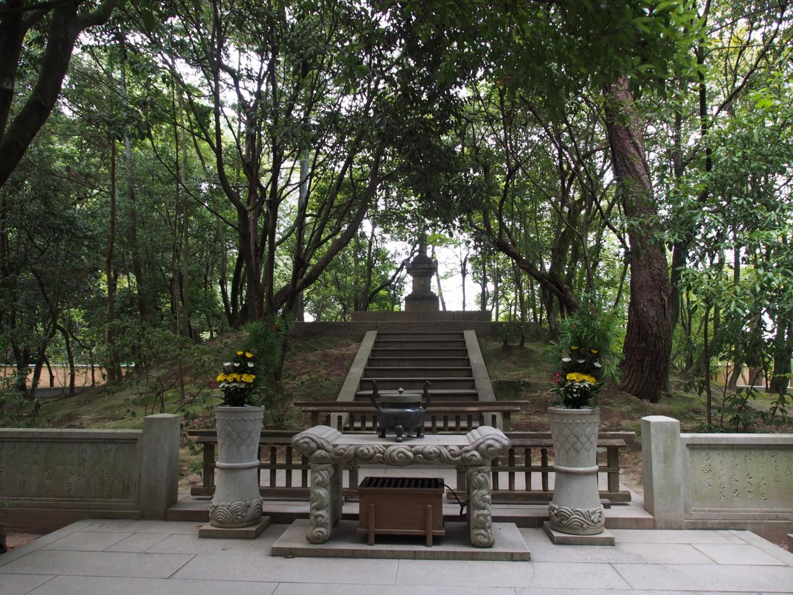 鑑真和上の墓所