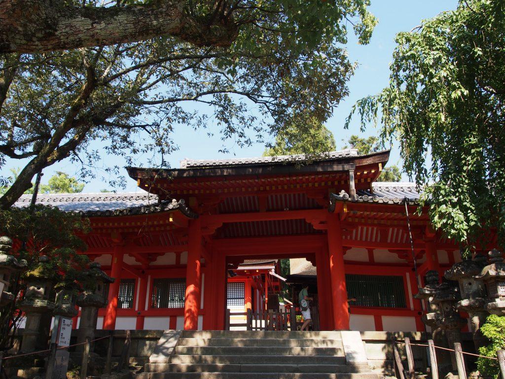 【春日大社清浄門】興福寺の僧侶らが春日大社参拝に使用した門