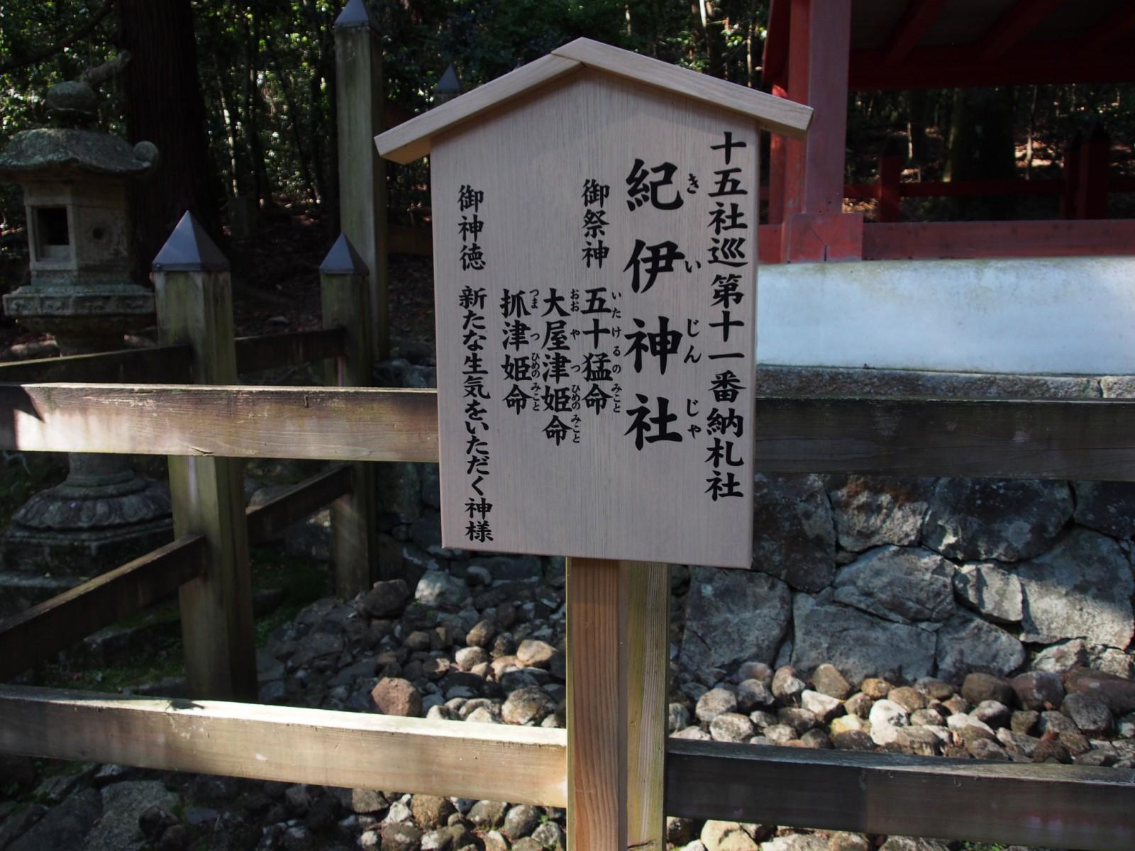 紀伊神社の案内板