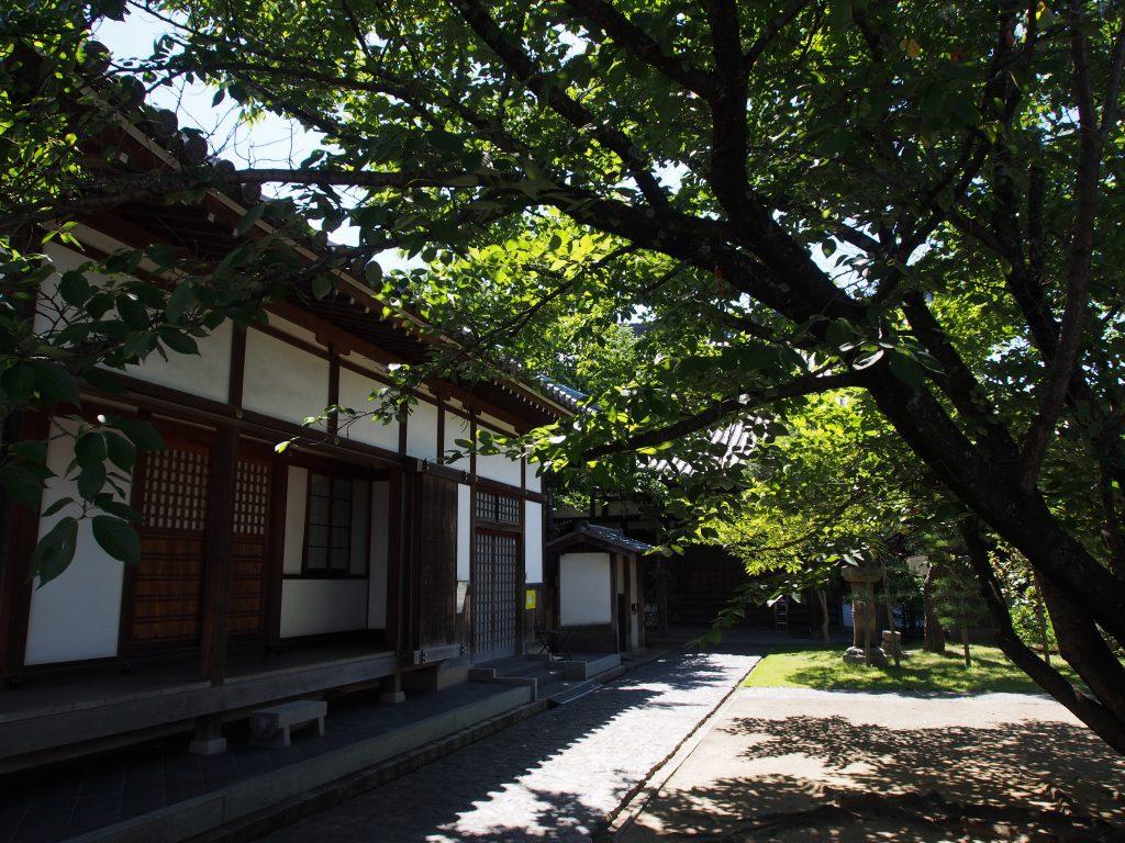 徳融寺本堂周辺の風景