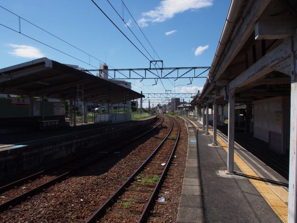京終駅構内(奈良方面)