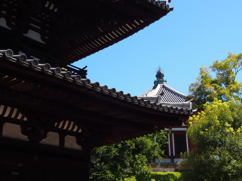 三重塔と南円堂(興福寺)